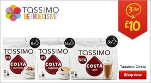 Tassimo Costa range Asda 3 for £10