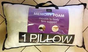 Memory Foam Pillows down to £6.90 @ Primark