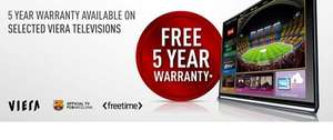 Free 5 Year Warranty for qualifying Panasonic Viera Televisions