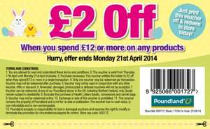 Get £2 off your next £12 shop ... hurry offer ends on Monday! @ Poundland