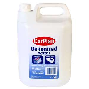 Carplan De-ionised Water 5ltr only £1.94 & free delivery @ euroCarParts