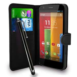 Case for MotoG including stylus and cloth - £2.99 delivered @ Amazon Sold by Fone-Case