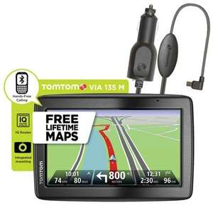 TomTom Via 135 M 5 inch SatNav with UK, ROI & Europe Mapping, IQ Routes with Lifetime Maps plus FREE Traffic Receiver £120.98 @ Ideal world