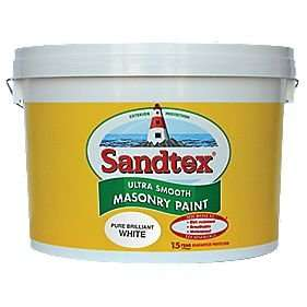 sandtex ultra smooth masonry paint pure brilliant white 10ltr £21.25 @ Homebase with price match (screwfix)