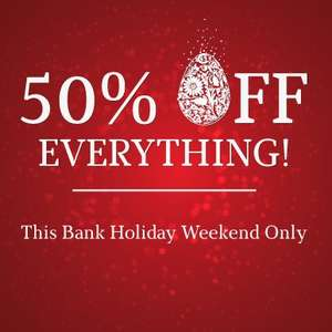 TODAY ONLY - 50% off EVERYTHING on Viners website.