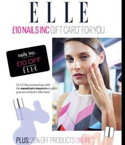 FREE £10 Nails Inc. gift card with Elle magazine (April) (£4 for mag)