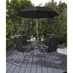 Round Patio Set - Black, Red or Blue 6 Piece - Wilko.com - £60
