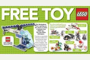 'Free' Lego with Nottingham Post newspaper