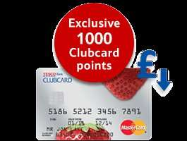1000 Tesco Clubcard points sign-up bonus on Tesco Credit Card