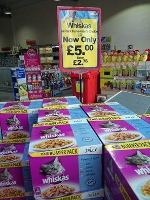Whiskas Fishermans Choice Cat food 24 pack - £5 @ Jolleys Pet Superstores & possible free Whiskas Ceramic cat bowl