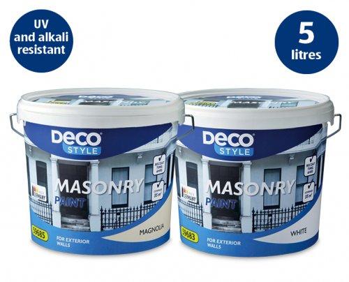 Aldi masonry paint ... 5 litres £6.99