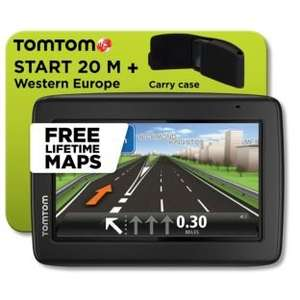 Tomtom Start 20 4.3 inch Western Europe Sat Nav with FREE lifetime MAPS with case £89.99 @ Argos