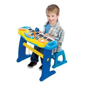 **Half Price- Bruin Light Up Keyboard with Stool - Blue or Pink...@ Toys R Us for £24.99 Was  £49.99