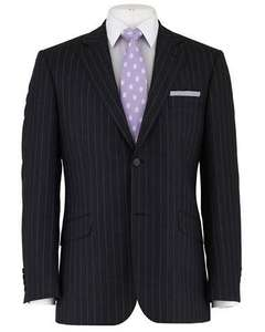 Dark Grey Stripe English Wool 2 Button Men's Suit Jacket £49.95 was £320 @ Savile Row Company + Quidco + use Savile for 20% discount