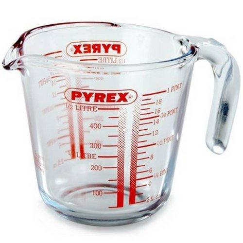 Pyrex Glass Measuring Jug, 0.5L £2 (Qd/Tc 4%) @ wilko
