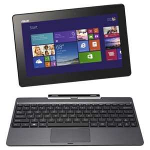 "Asus T100 10.1""/32GB/W8/WIFI Hybrid Tablet + Keyboard black £296.10 with code @ tesco direct"