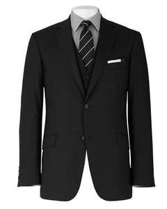 Black Two Button Tailored Suit Jacket £49.95 was £350 @ Savile Row Company (use SAVILE for extra 20% discount) £39.96