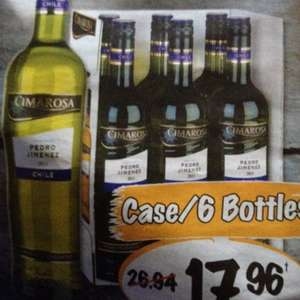 Lidl wine offers - Chilean Pedro Jiminez - £17.96 for 6 bottles
