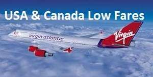 Virgin Atlantic Flights to USA & Canada from £377.91 Return with Inflight Meal, Complimentary Drinks & 10kg Cabin Bag, 23kg Checked in Luggage & Inflight Entertainment