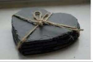 4 pack heart slate coasters £1.99 instore @ B&M stores
