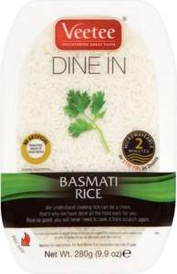 Veetee Basmati or Pilau Microwave Rice x6 280g £3.46/58p each @ Costco