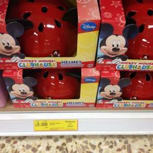 Mickey Mouse child's crash helmet with ears £5 at Tesco!!