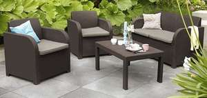 Rattan effect lounge set £149 JYSK