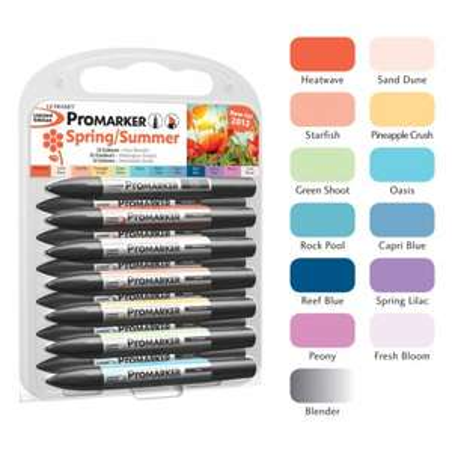 Letraset Promarker 12 Pk Spring/Summer Colours (RRP 24.95) £10 @ hobbycraft