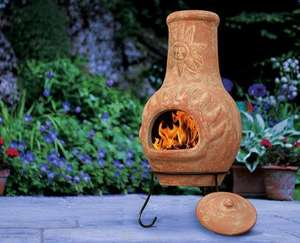 ALDI - Chimenea with steel stand + rainlid included (avail 1st May) 29.99