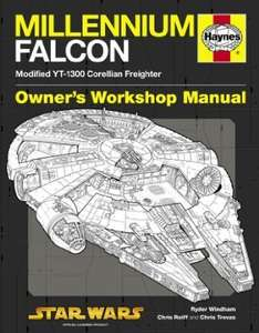 Amazon {WORDERY}  £8.79 Delivered Haynes. Millennium Falcon Manual: 1977 Onwards (Modified YT-1300 Corellian Freighter) (Owners Workshop Manual) (Hardcover) - sold by Wordery