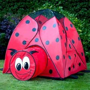 Ladybird tent with tunnel £9.99 at B&M stores
