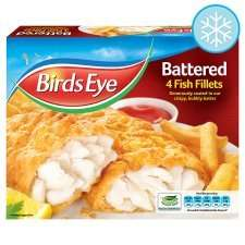 Birds Eye Battered 4 Fish Fillets & Breaded 400g @ Tesco-£1.50