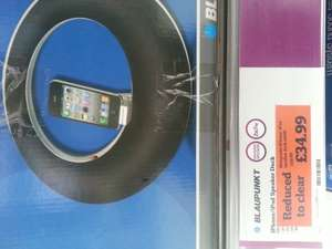 Blaupunkt iphone/ipad speaker dock £34.99 @ Sainsburys