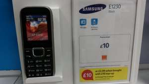 Samsung E1230 £2.99 WITH £10 Orange credit - £12.99 @ TescoMobile