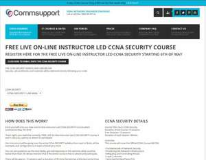Commsupport - Free Live On-line Instructor Led CCNA Security Course
