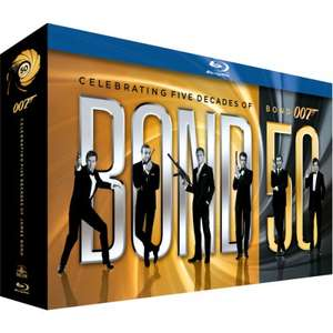 The Complete James Bond Collection - Blu Ray - £66.99 @ Zavvi