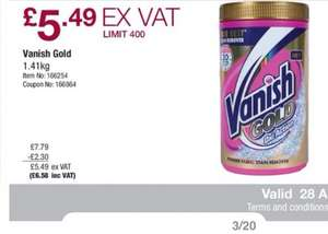 Costco Vanish Gold £6.58 for 1.4kg