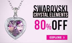 Swarovski Elements Jewellery - 80% off @ Warren James