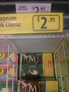 Magnum ice cream 8 pack Classic £2.95 @ FarmFoods Northampton branch