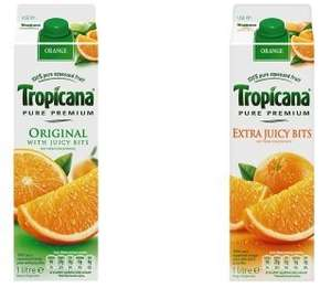 Tropicana Pure Extra Juicy Bits/No Bits (1 Litre) £1.50 or £1.00 (with shopitize cashback) @ Asda