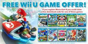 Purchase Mario Kart 8 and register with Club Nintendo - get a FREE Wii U game!