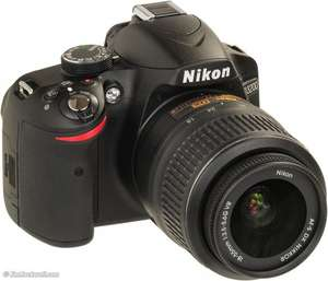 Nikon D3200 24MP DSLR Camera with 18-55mm Kit - Black £349.99 @ Argos
