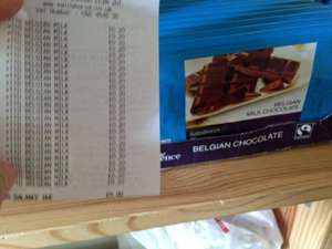 Sainsbury's Fairtrade Taste the Difference Belgium Chocolate 200g Bar - reduced to £1.27 but scanning at 20p!