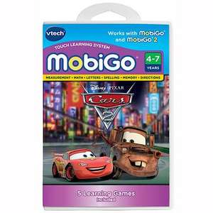 VTech Mobigo cartridges (Cars 2, Hello Kitty, Brave, Mickey Mouse) 80%off! £3.60 @ TheToyShop