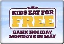 Kids (under 10) eat free on May bank holidays @ Crown Carveries