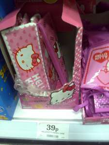 Hello Kitty pencil case (+ 2 candy bracelets) 39p in home bargains