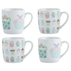 ** Tesco Cupcake Mugs Porcelain (Set of 4) now £3 @ Tesco Direct **