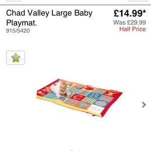 Chad valley large play mat @ argos £14.99