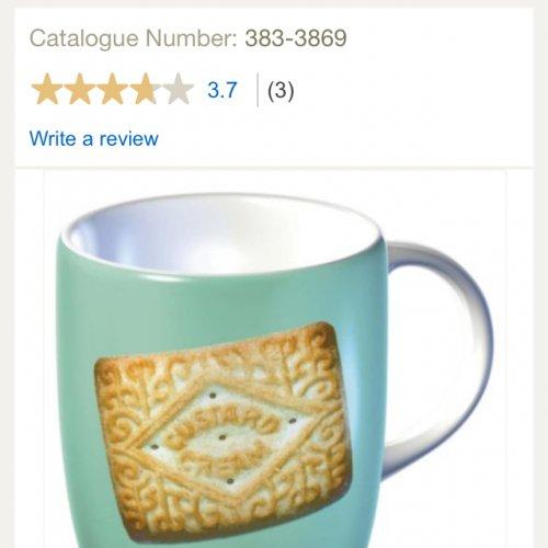 Tesco porcelain biscuit mug half price £1 in store