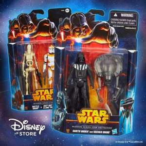 Two free star wars figures from disney store via daily star .may 4th only
